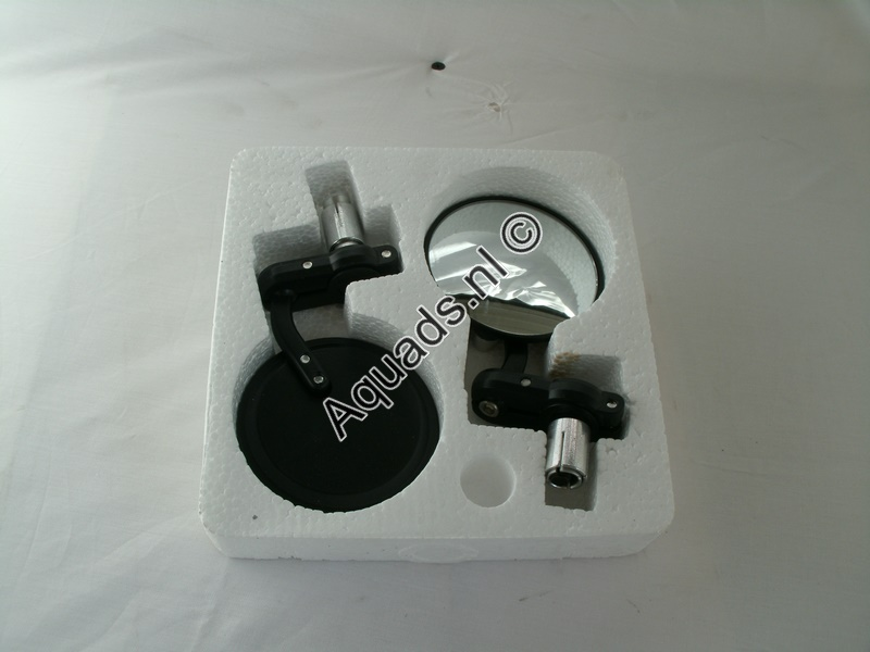 Mirror set black, Endbar mirrors